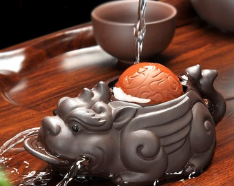 on sales yixing zisha tea pet wealthy bring creative home table decoration new