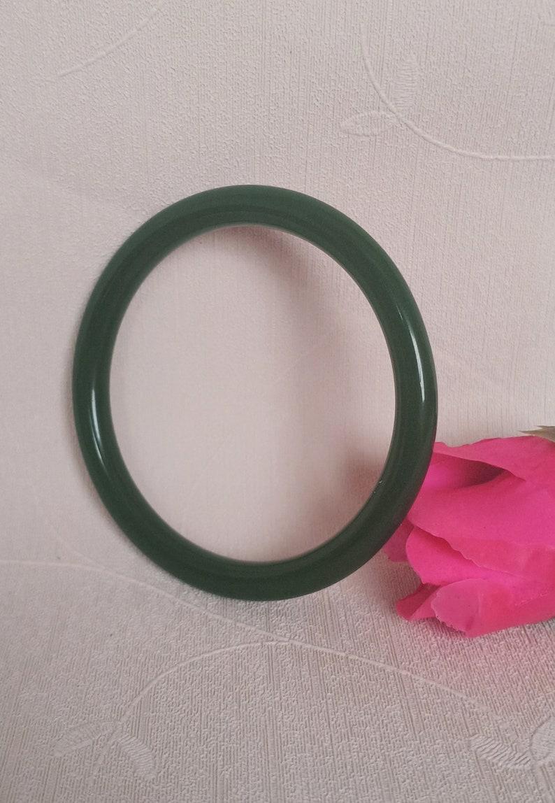 L563 Beautiful green jasper Round  article   handmade bracelet inner diameter 58mm