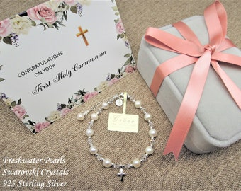 First Communion Gift Girl, First Communion Bracelet, Holy Communion, Personalized First Communion Gift, First Communion Jewelry, Initial