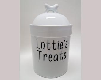 261734d9b813 Personalized Dog Treat Jar Large Treat Jar Dog Gifts Mans Best Friend Dog  Lover Gift Custom Pet Treat Jar Pet Storage Pet Canister