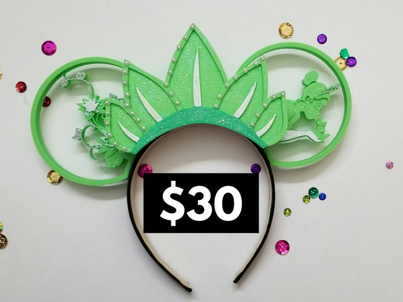 Princess and the Frog Tiana tiara 3D with detailed ears