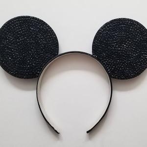 BLACK Rhinestone Wishes 3D Mouse Ears