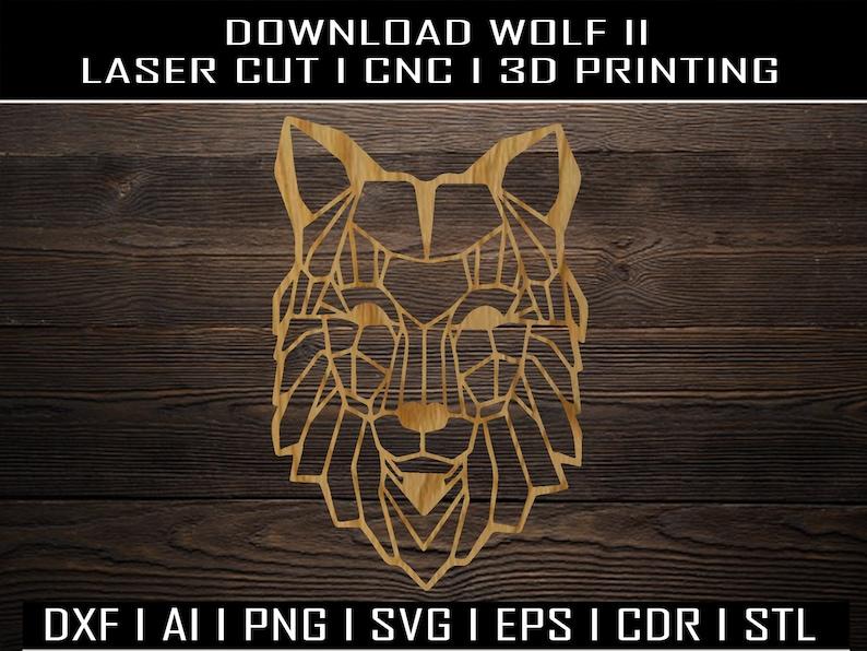 Wolf STL I Ai I PNG I SVG I Eps I Pdf I Dwg I Dxf I laser cutting I cnc I clipart I 3D Printing I geometric I wallart