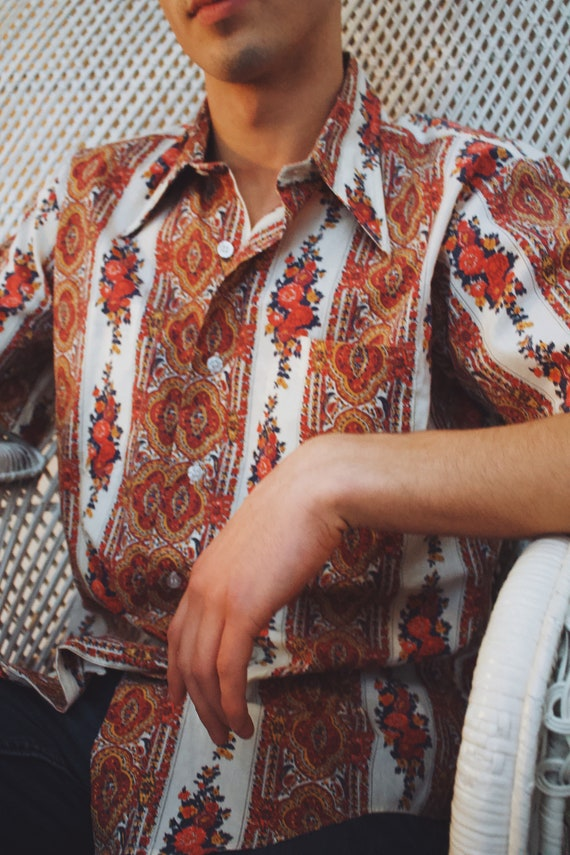 Vintage 1970's 'Beacon and Sons' Floral Pattern B… - image 2
