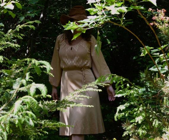 1970's Beige Day Dress