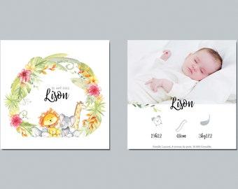Share birth, share birth watercolor, share birth jungle