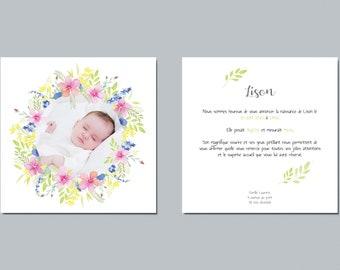 Share birth, share birth watercolor, share birth flowers