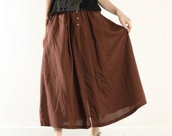 linen skirtdesigned and made by AnBerlinen Plus sizes Linen skirt KNEE length skirtsummer skirt