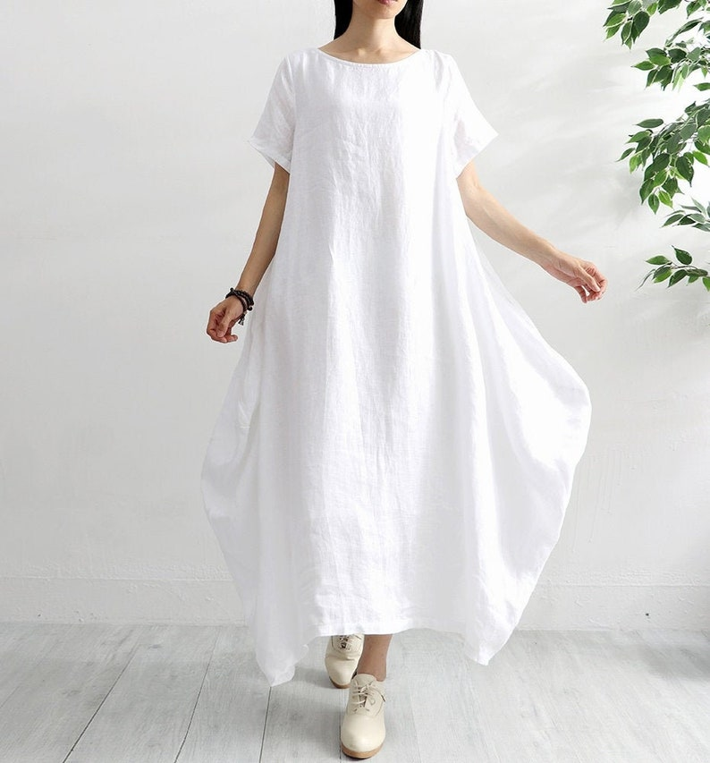 New Design Cotton Dress Soft Casual Loose Caftan Summer Robes image 0