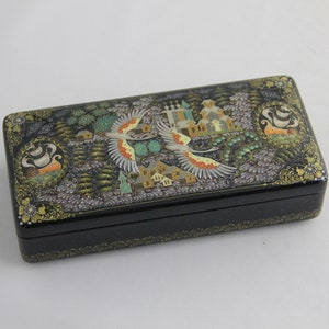 Christmas gift Russian Kholuy Lacquer  Hand Painted Box  Summer  #190 Papier-Mache Jewelry Box  Gift for Her Collectable Piece