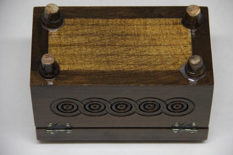 Home Decor Hand Carved Ukrainian Jewelry Box Wedding Gift Jewelry Box Walnut Wood Hand Crafted Handmade