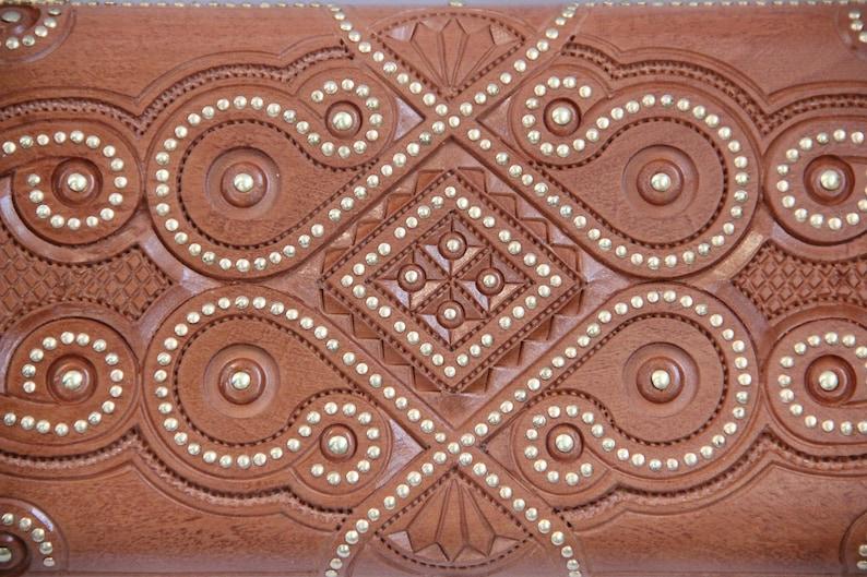 Big Size Hand Carved Ukrainian Wooden Jewelry Box Hand Crafted Jewelry Box Alder Wood Wedding Gift Handmade Home Decor