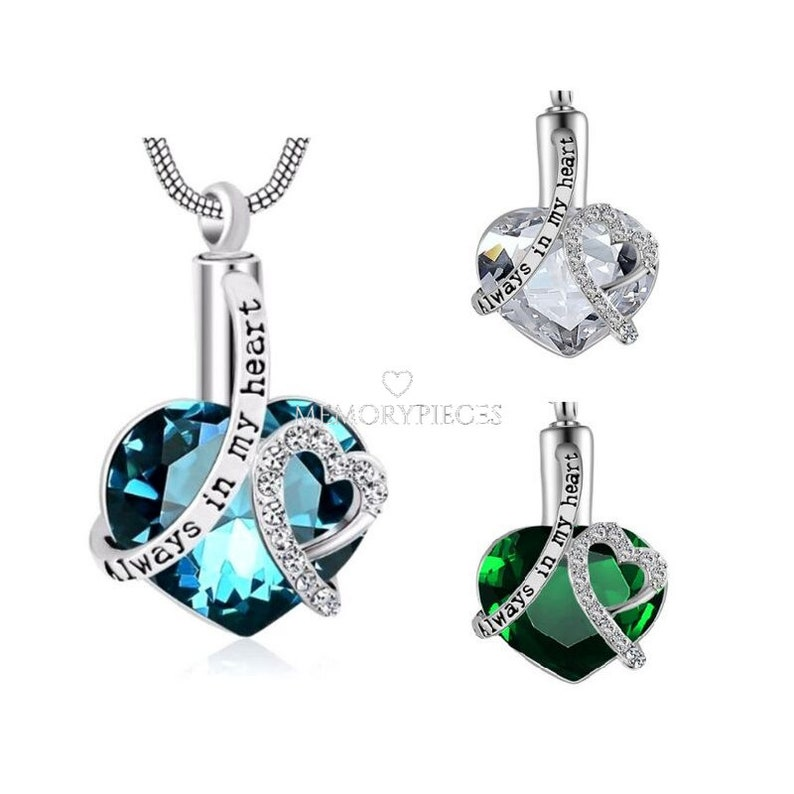 Cremation Jewelry for Ashes Heart Pendant Urn Necklace Keepsake in Memory