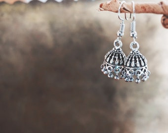 0d0aad6ad Nazuk Collection - unisex - German silver jhumki earrings - hippie boho  festival jewellery