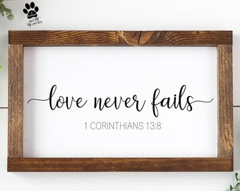 Love Never Fails Svg Etsy