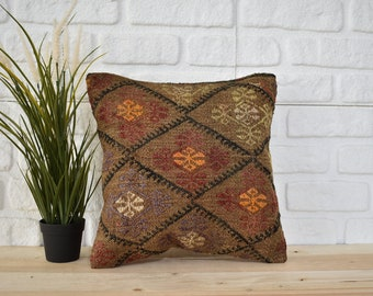 floor pillow antique kilim pillow nomadic kilim pillow 16x48 pillow cover striped kilim pillow 0319 boho pillow tribal pillow