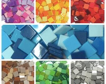 Thalo Blau 81 Mini Glasiert Keramik Mosaik Fliesen 10mm
