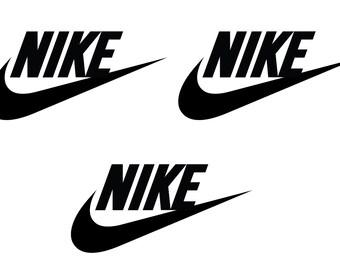 super popular 3220d adf09 3 Nike Iron On Heat Transfer logo Vinyl T-shirts 50mm x 20mm (2 x 1 Inche)  Black
