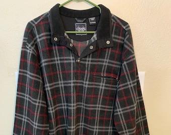 e94b5b37d0e VTG Chaps Fleece Plaid Pullover Men s Size XL
