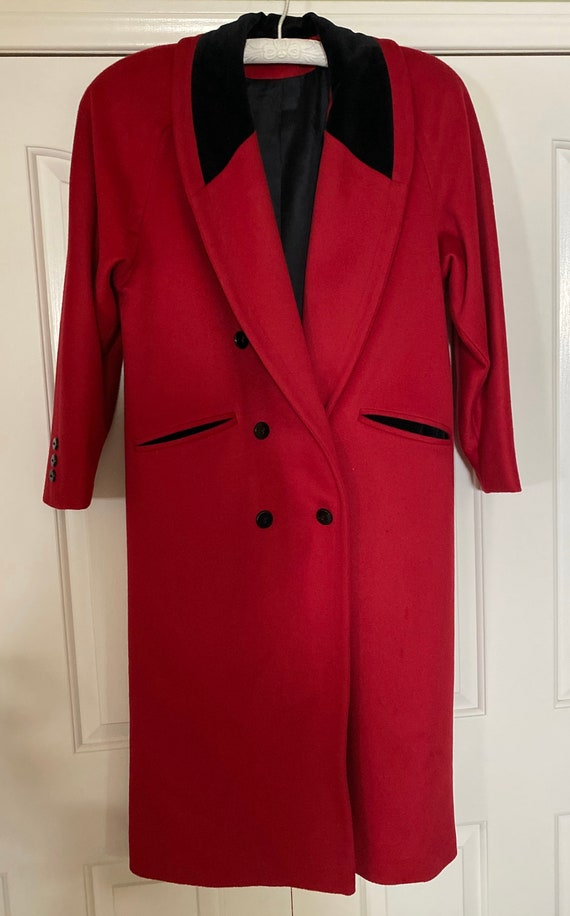 Vintage 1960s Pure Wool Coat/Woman's Essential Red