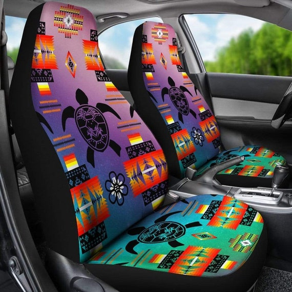 Fine Turtle Aztec Car Seat Covers Pair 2 Front Seat Covers Car Seat Protector Seat Cover For Car Car Seat Protector Car Accessory Uwap Interior Chair Design Uwaporg