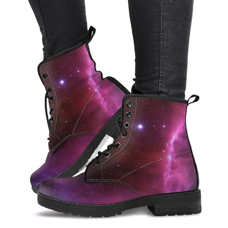 snow Boots Women Womens Leather Boots Womens Shoes Space Red Shoes Womens Rain Boots Handcrafted Boots Womens Combat Boots