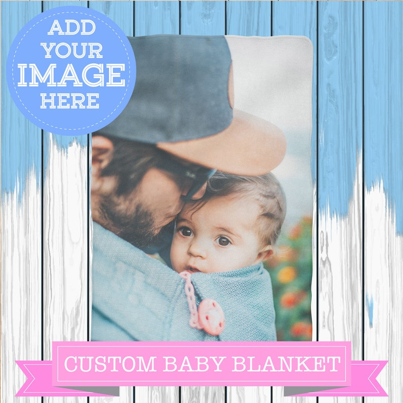Personalized Baby Custom Photo Blanket Comfy Printed Quilt Stroller Buggy Cot Pushchair Crib Throw Nursery Playroom Den Bedspread Bedding