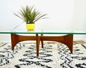 60s Vintage ADRIAN PEARSALL Walnut DANISH Mid Century Modern Style Coffee Table 1960s