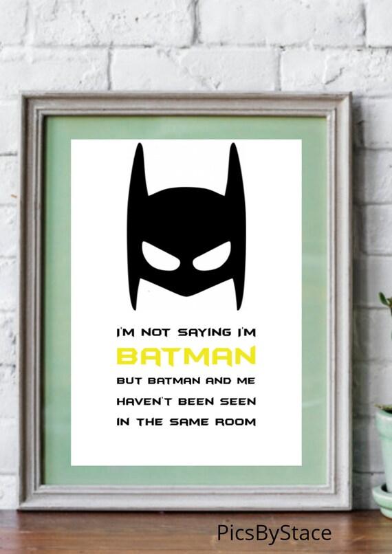 Ich Sage Nicht Dass Ich Bin Batman A4 Druck