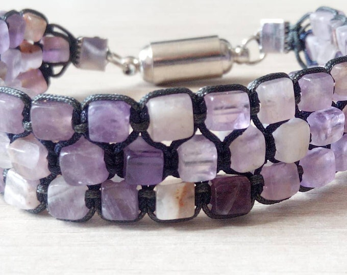 Tri-band cuff in Amethyst