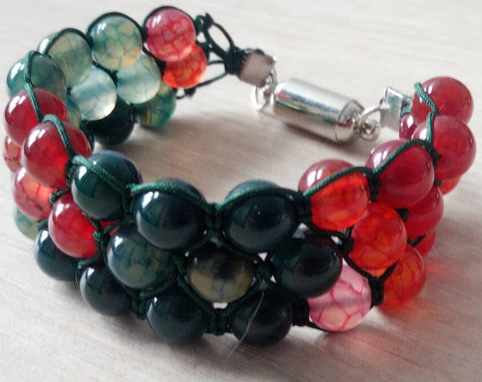 Sublime Tourmaline Tri-band Bracelet with magnetic clasp