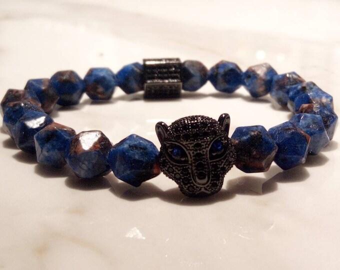 Lapis azuli alloy bracelet