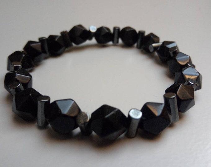 Onyx bracelet and hematite