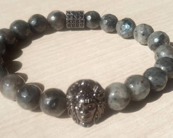 Sublime Geronimo bracelet in larkavite Labradorite