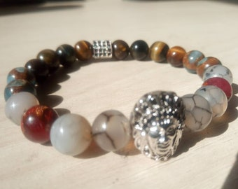 Gorgeous Geronimo Tiger eye bracelet, jade and agate