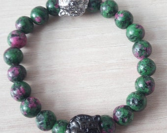 Sublime Bracelet Shere khan zoizite 8 mm