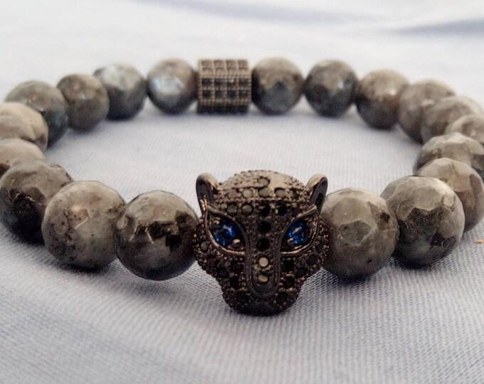 Labradorite spectrolite bracelet