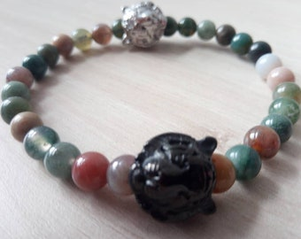Sublime Shere khan Indian agate Bracelet