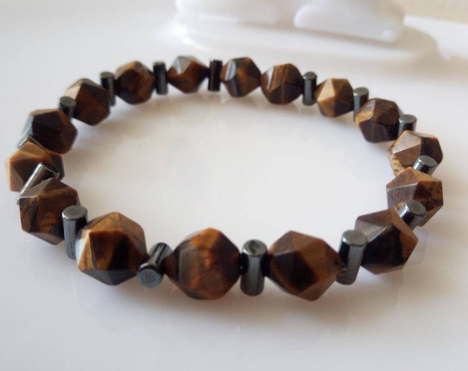 Tiger eye bracelet and hematite