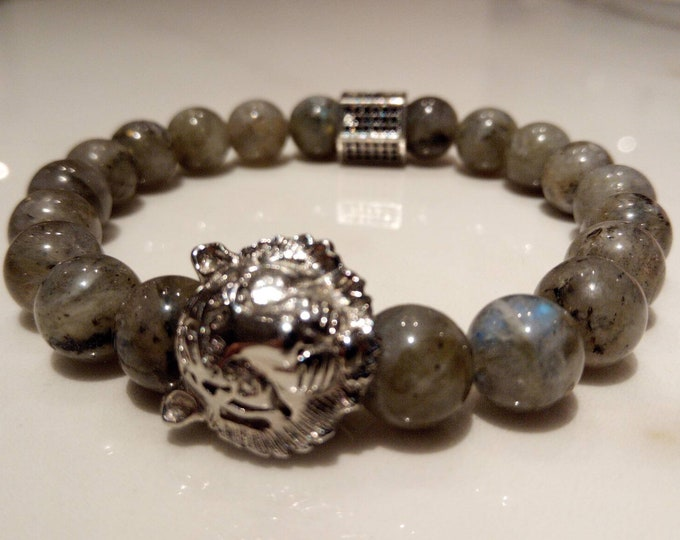 Blue labradorite bracelet