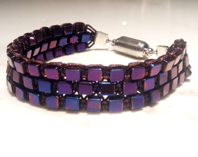 Purple hematite cuff
