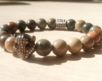 Sublime Bagheera bracelet in multicolor agate