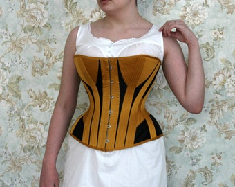 96a76d24dc Made-to-measure Late Victorian overbust corset 1880s