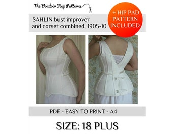 Victorian Corsets – Old Fashioned Corsets & Patterns     20 PLUS Printable Edwardian Corset Pattern Sahlin corset pattern 1900s S-bend corset pattern $18.00 AT vintagedancer.com