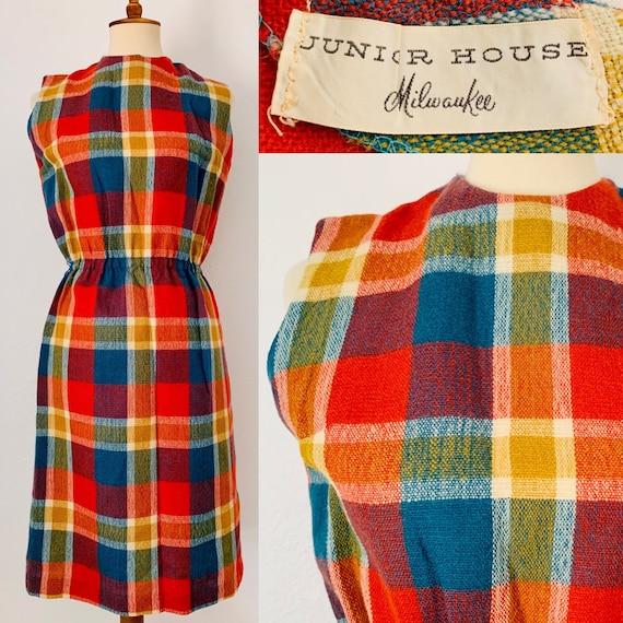 Vintage Plaid Sleeveless Junior House Milwaukee Dr