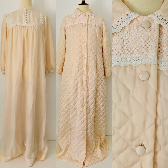 Vintage Christian Dior Nightgown and House Coat