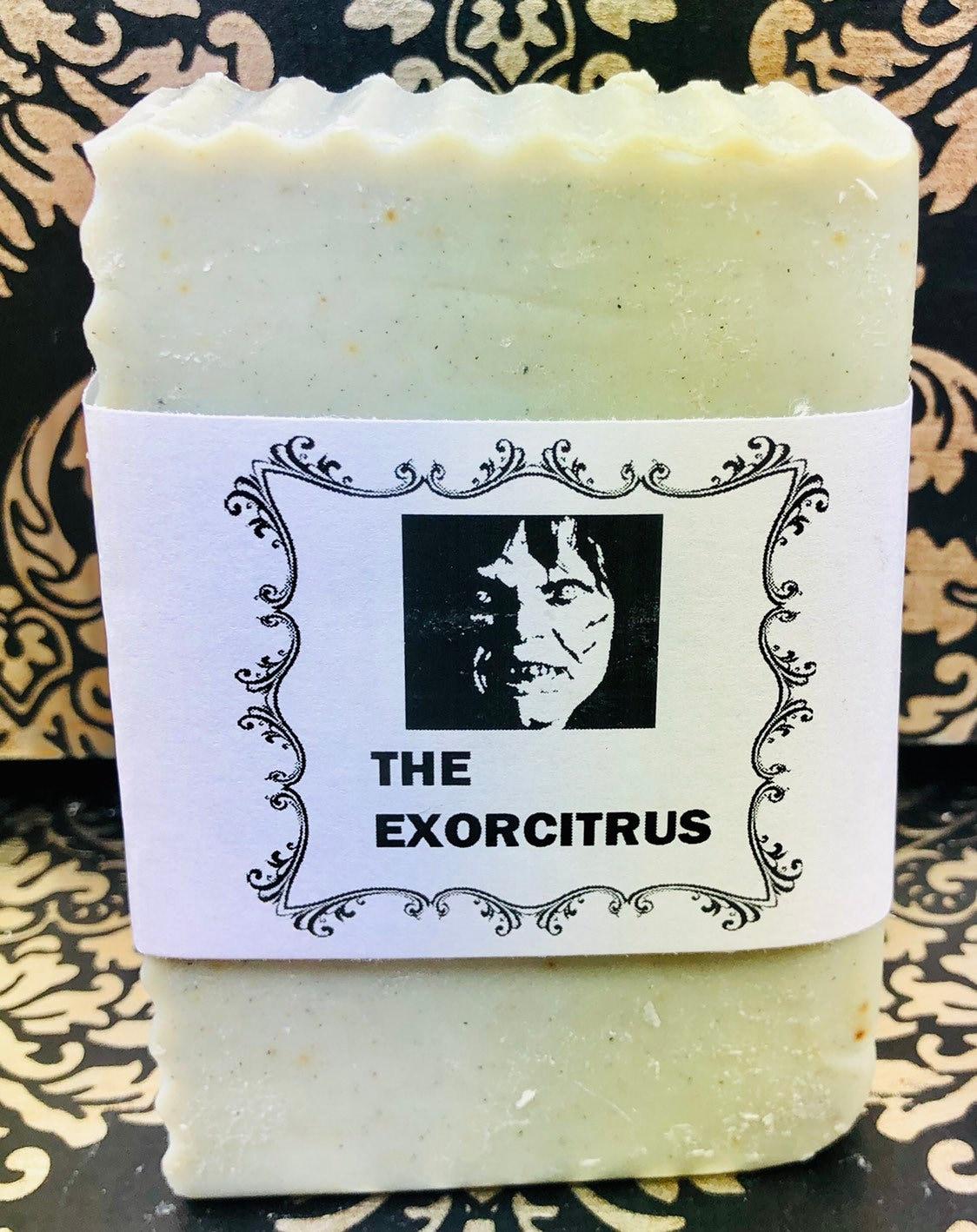 Natural Soap, The Exorcitrus, Handmade, Vegan, Essential Oils, Horror Film,  The Exorcist, Orange, Lemon, Biodegradable