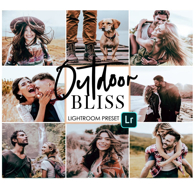 3 Outdoor lightroom presets for adobe lightroom CC mobile app - outdoor  couple filters saturated filters warm outdoor preset for light room