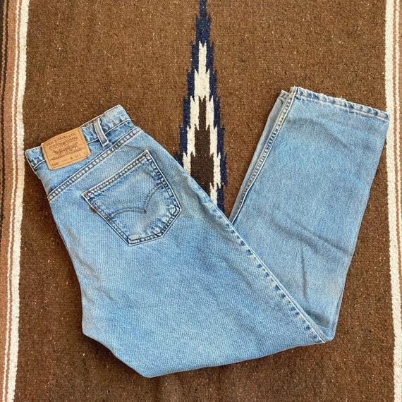 Vintage USA made 90s orange tab levis 550