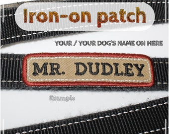 Iron-on patch Your/Your DOG's Name | Dog Training Badge | Name Tag | Custom Orders welcome | Army Police Service Therapy K9 Dog Handler